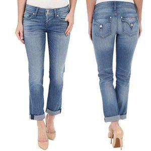 HUDSON Ginny Crop Straight w/ Cuff Jeans Size 25